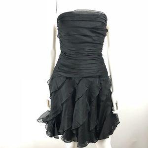Tadashi Shoji Petites Strapless Dress Ruffled NWOT